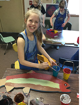 Sisters Students Create Art for River Restoration Project