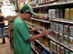 Students in Sisters' Life Skills and Transition programs gain job experience by working at the local market.