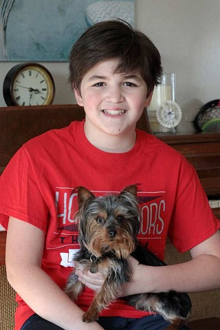 Service dog benefits Sisters fifth grade student