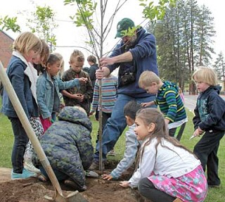 Students participate in Arbor Day