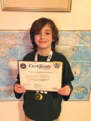 Matthew Riehle wins geography bee