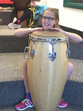 Drummer Teaches Rhythms at SES
